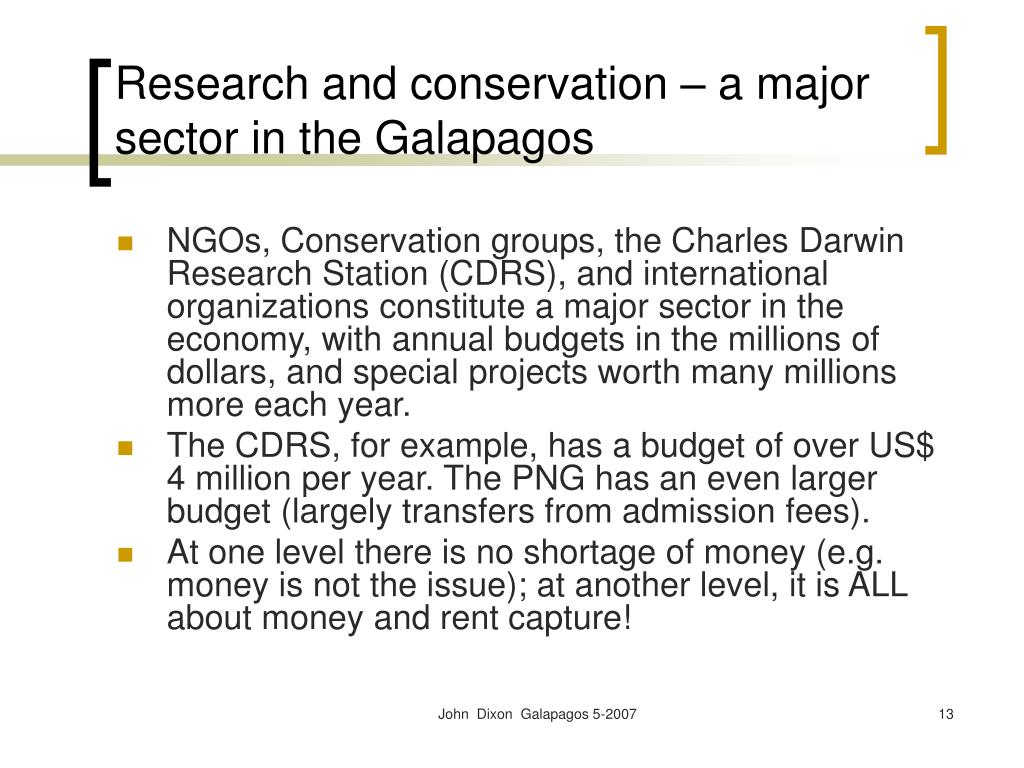 Research and conservation – a major sector in the Galapagos