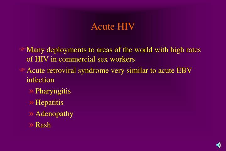 Acute HIV