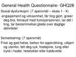 general health questionnaire ghq281
