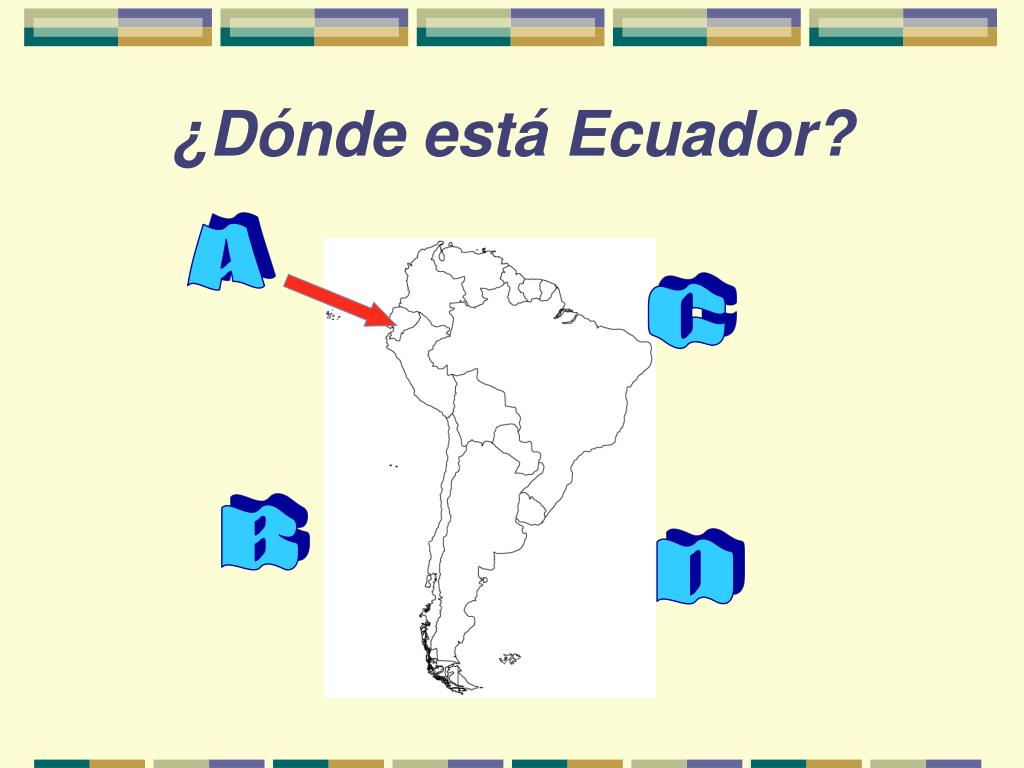 ¿Dónde está Ecuador?