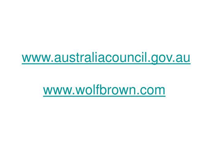www.australiacouncil.gov.au