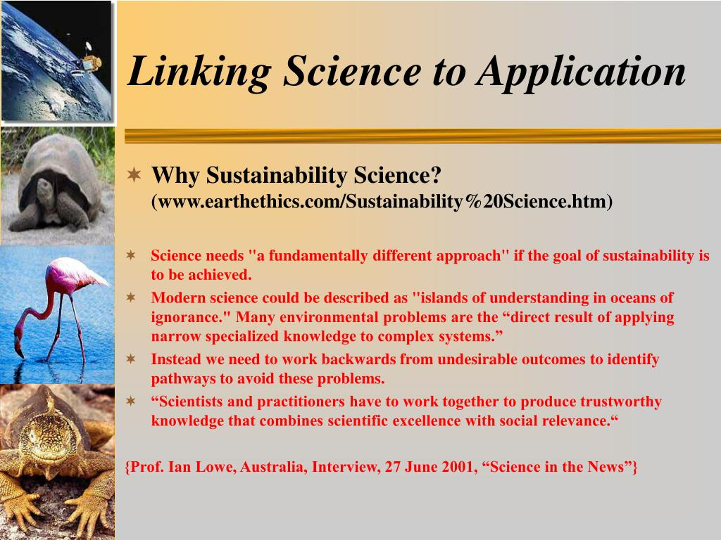 Linking Science to Application