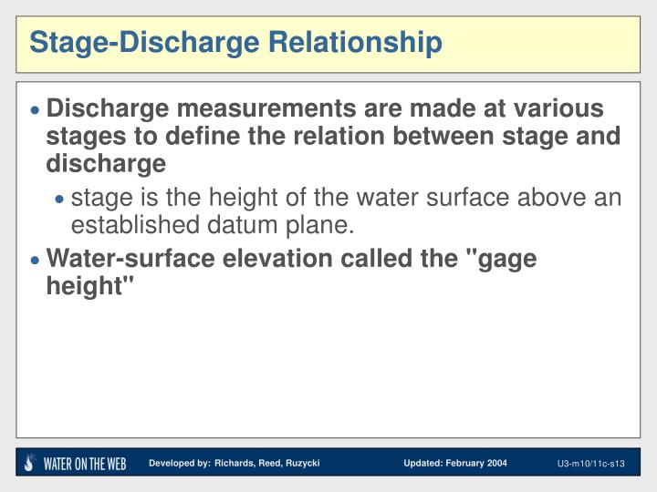 Stage-Discharge Relationship