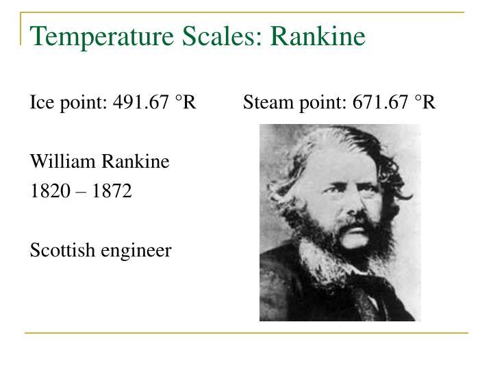 Temperature Scales: Rankine