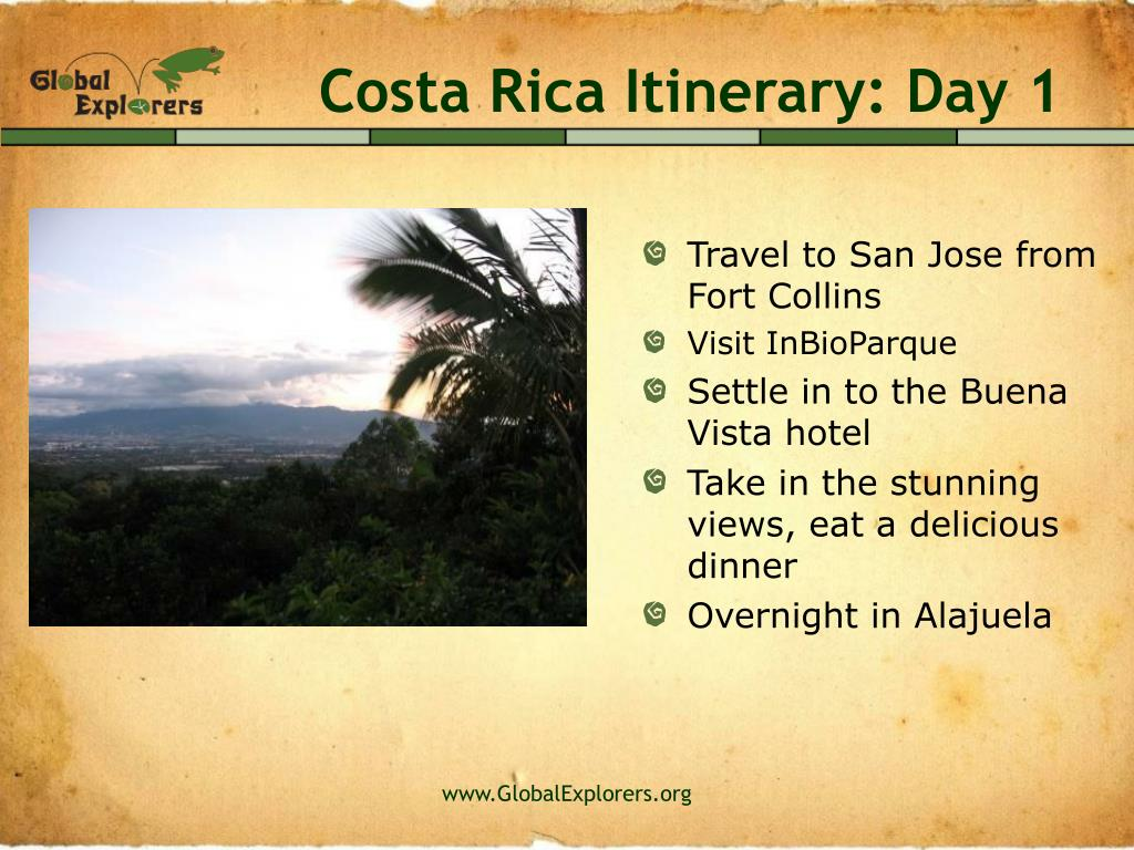 Costa Rica Itinerary: Day 1