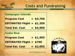 costs and fundraising