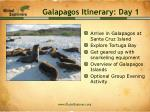 galapagos itinerary day 1