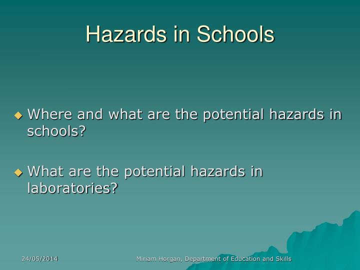 explain 6 potential hazards in health Understand potential hazards in health and  explain when a non hazardous object can become a hazard  health, safety and security in health and social care.