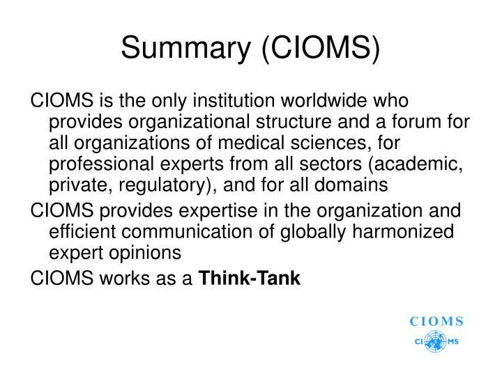 Summary (CIOMS)