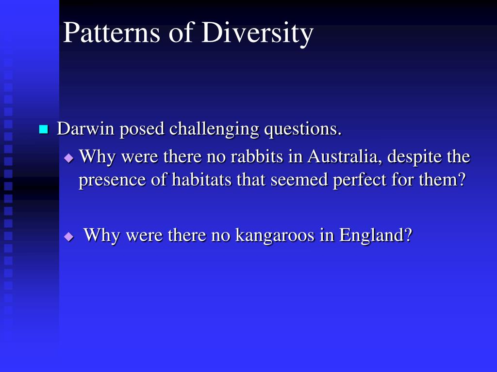 Darwin posed challenging questions.