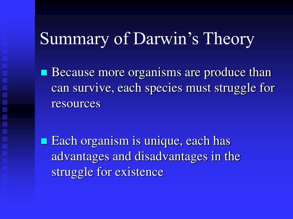 Summary of Darwin's Theory