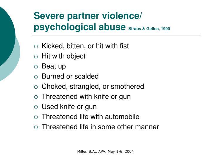 Severe partner violence/