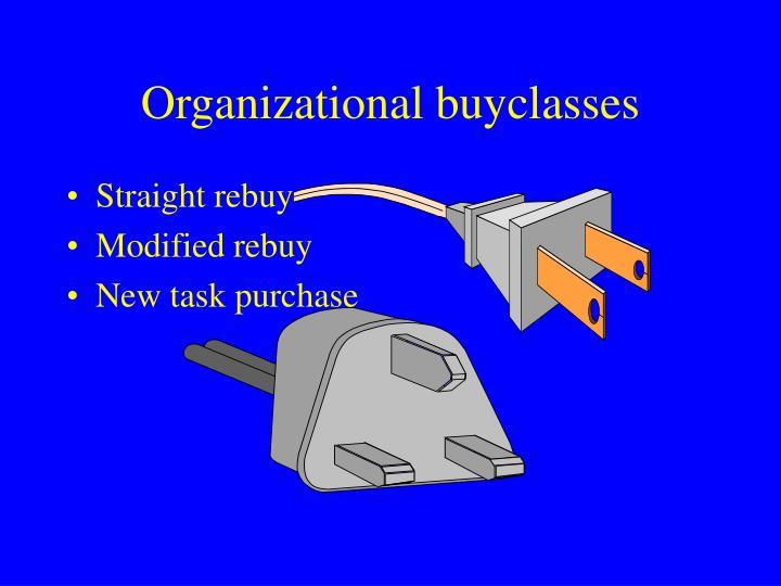 Organizational buyclasses