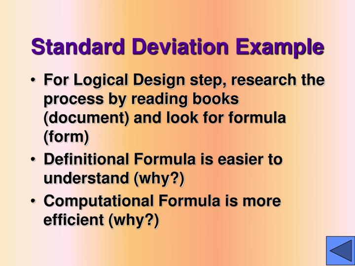 Standard Deviation Example