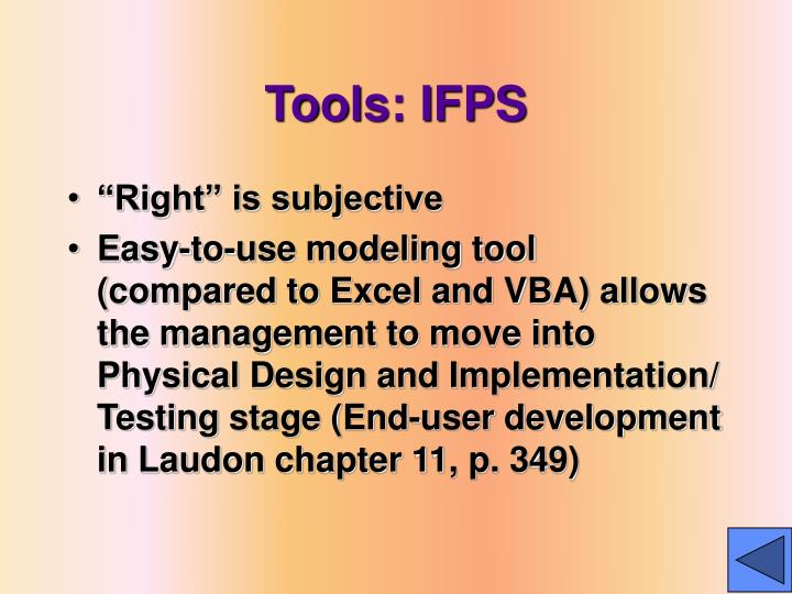 Tools: IFPS