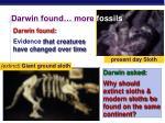 darwin found more fossils