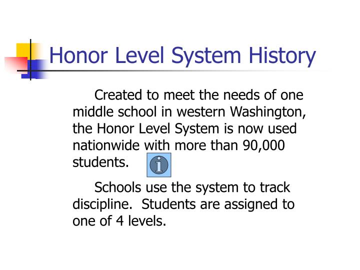 Honor level system history