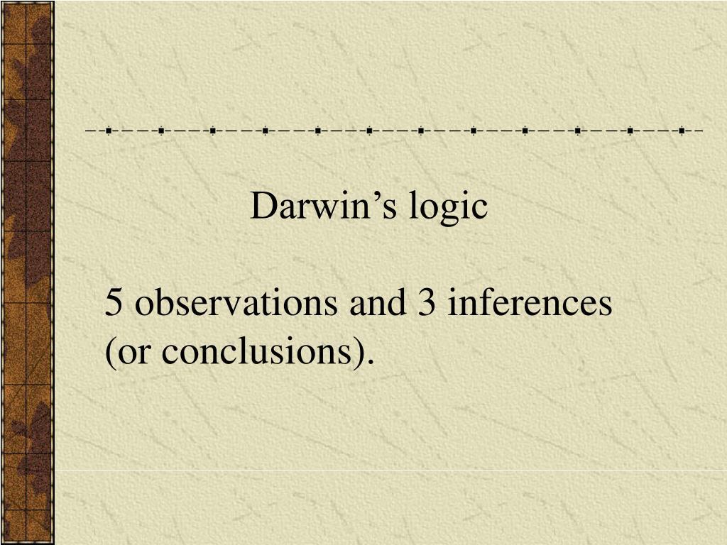 Darwin's logic