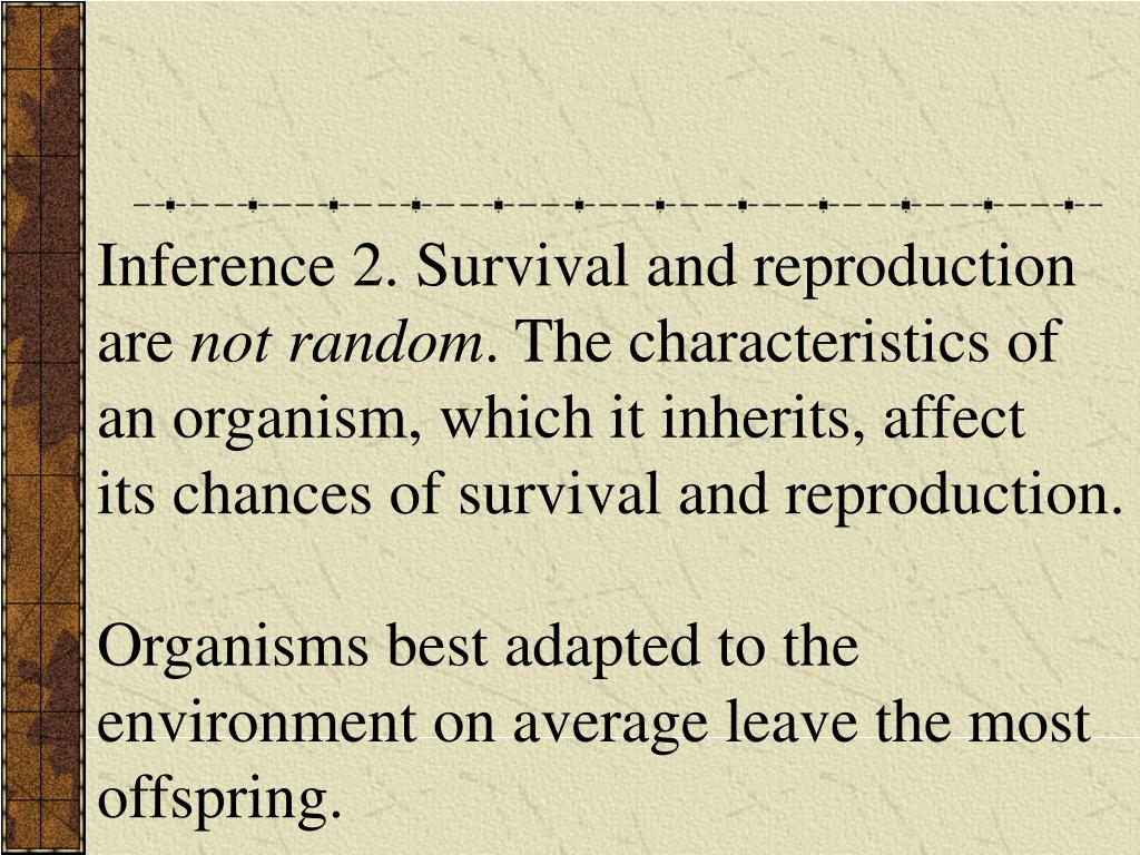 Inference 2. Survival and reproduction