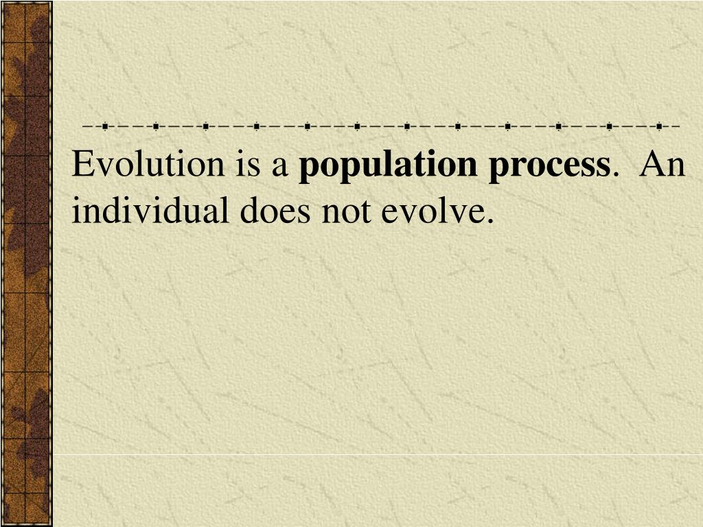 Evolution is a