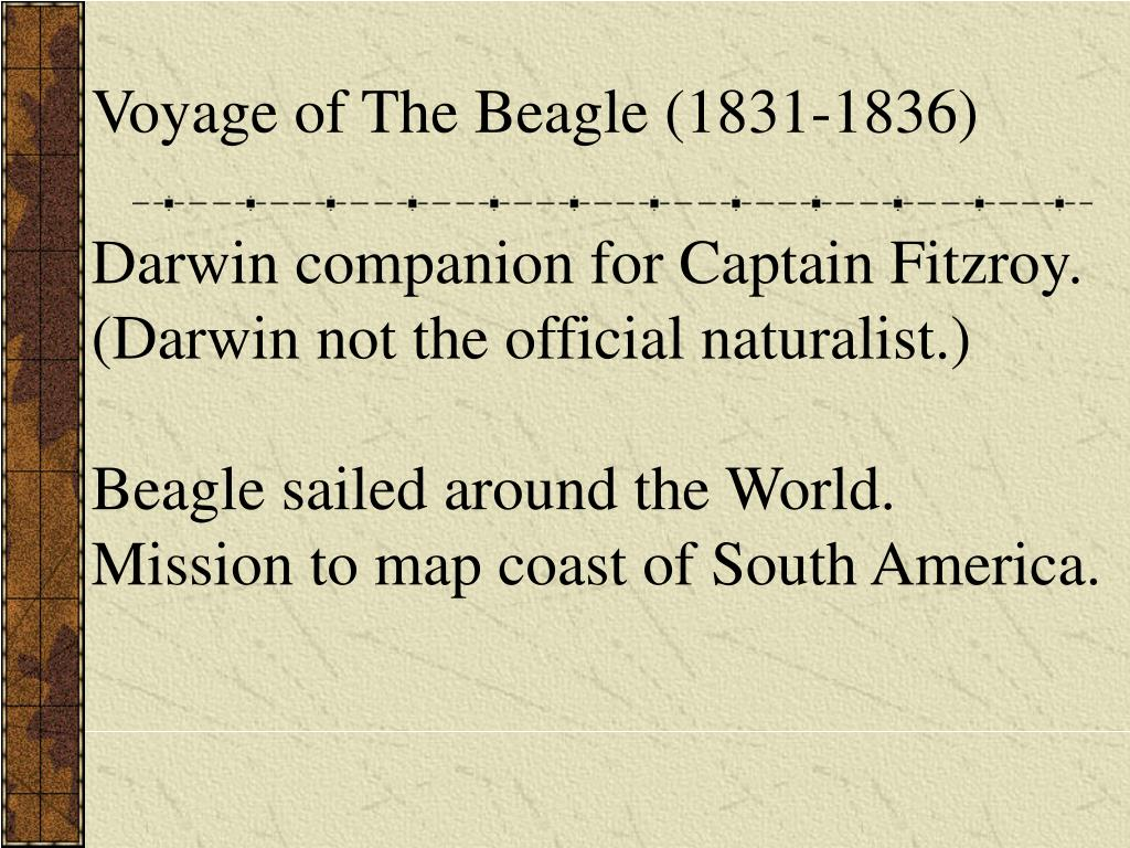 Voyage of The Beagle (1831-1836)