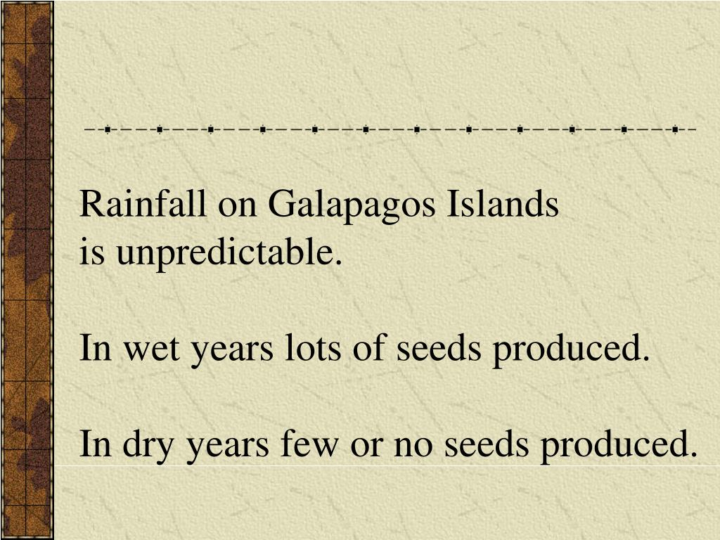 Rainfall on Galapagos Islands