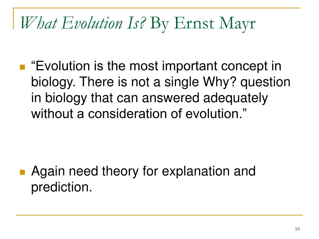 What Evolution Is?