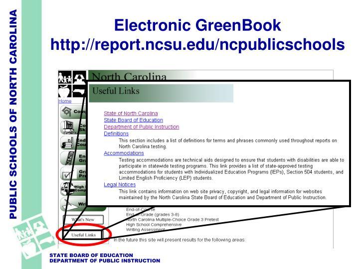 Electronic GreenBook