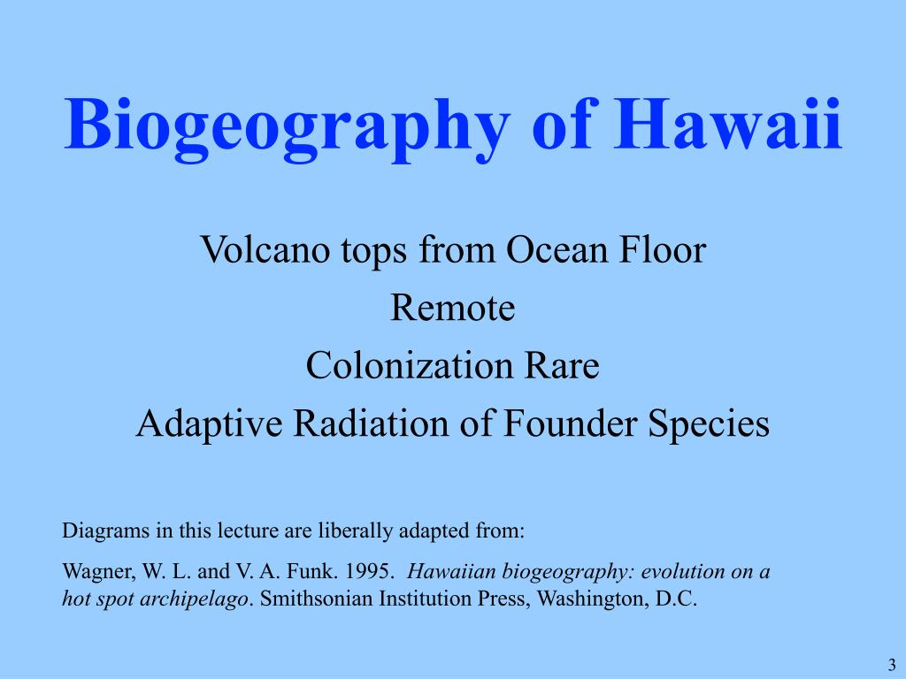 Biogeography of Hawaii