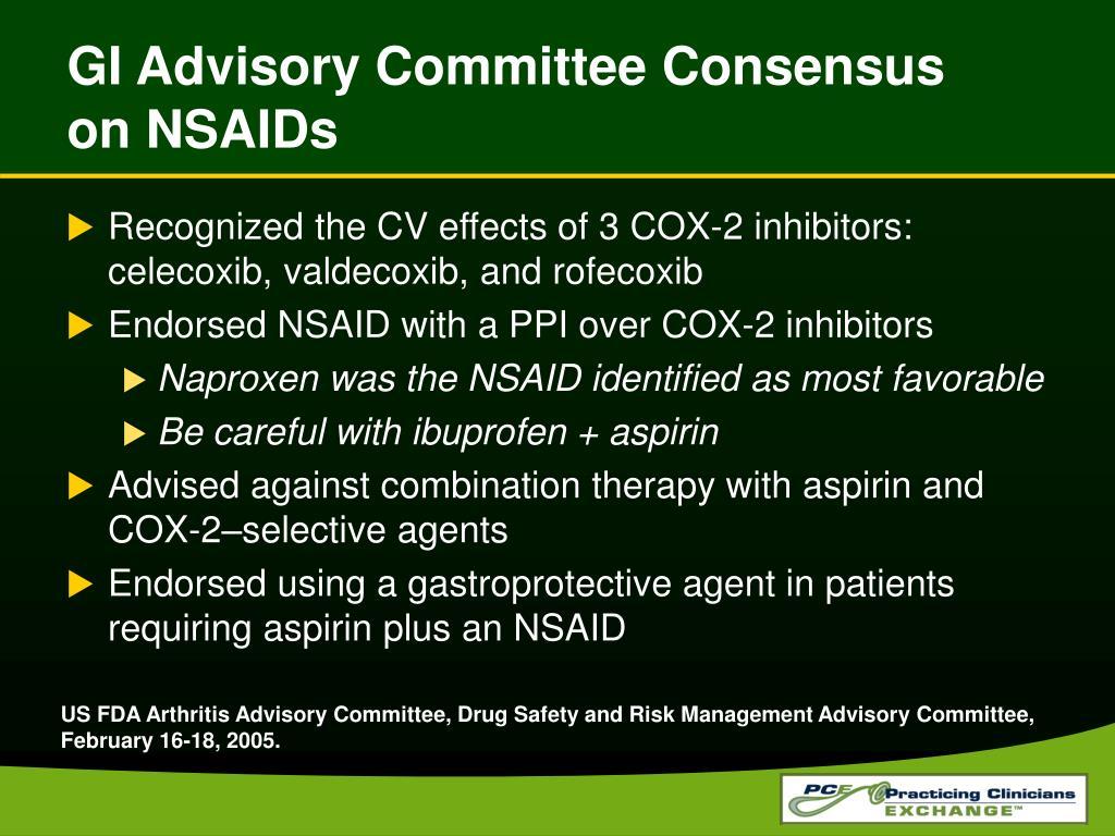 GI Advisory Committee Consensus