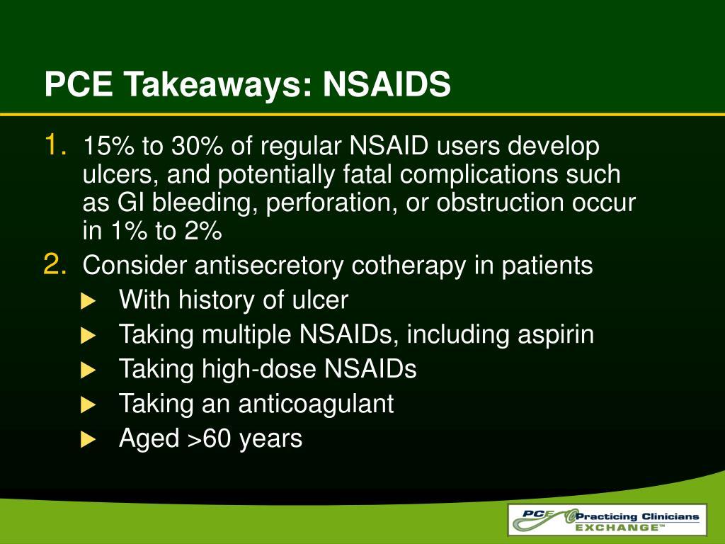 PCE Takeaways: NSAIDS