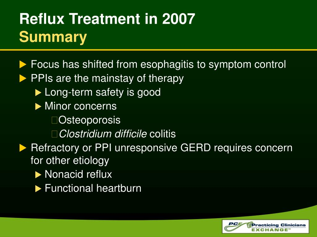 Reflux Treatment in 2007
