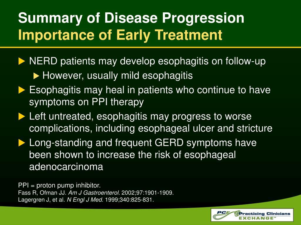 Summary of Disease Progression