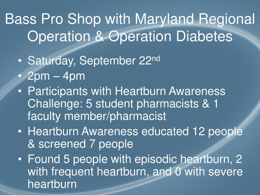 Bass Pro Shop with Maryland Regional Operation & Operation Diabetes