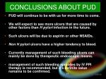 conclusions about pud