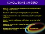 conclusions on gerd