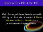 discovery of h pylori