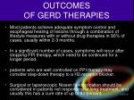 outcomes of gerd therapies