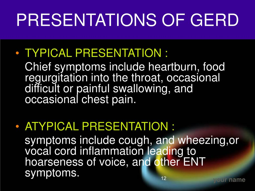 PRESENTATIONS OF GERD