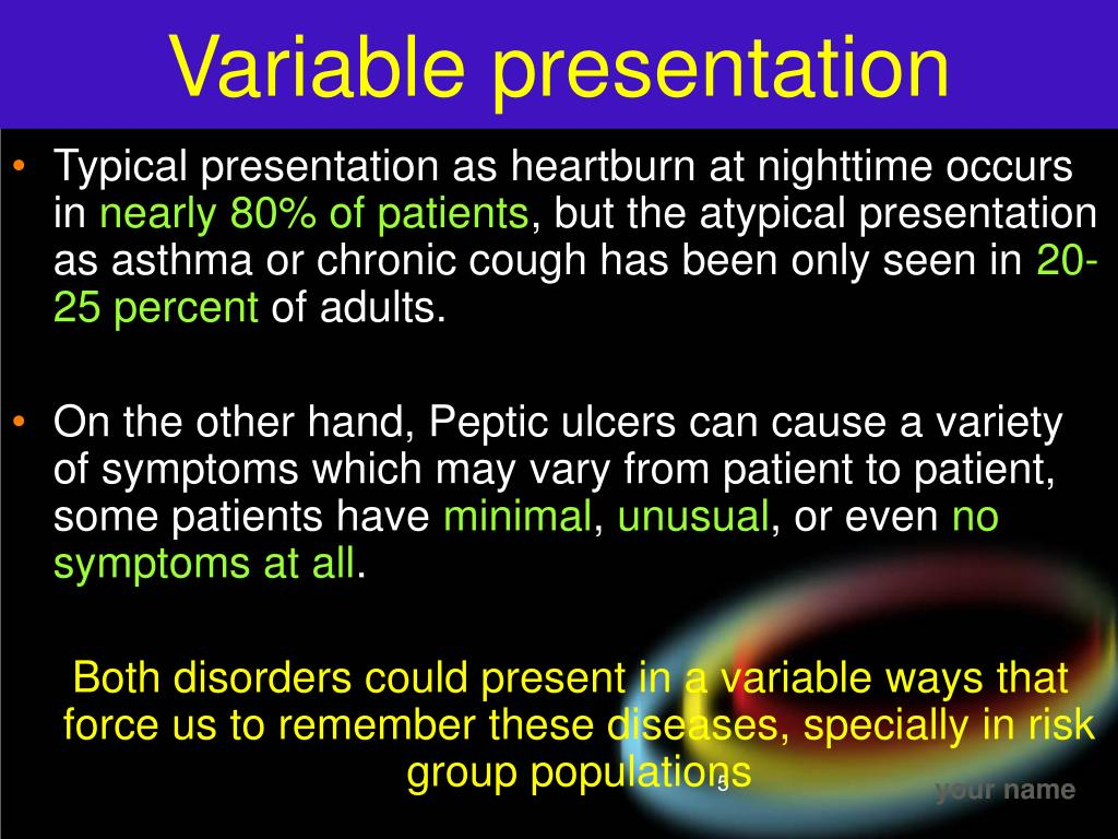 Variable presentation