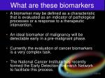 what are these biomarkers