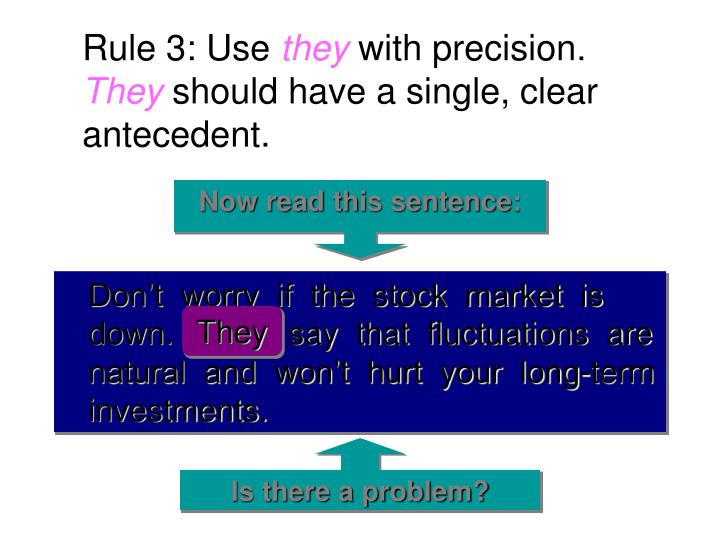 Rule 3: Use
