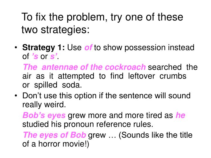 Strategy 1:
