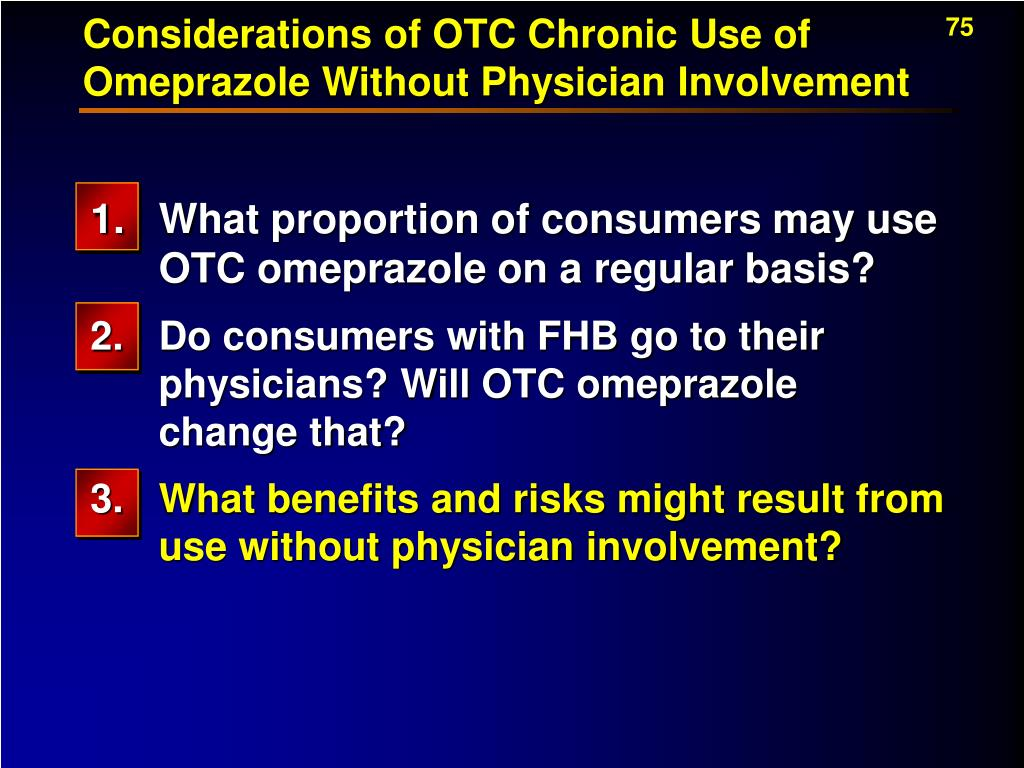 Considerations of OTC Chronic Use of Omeprazole Without Physician Involvement