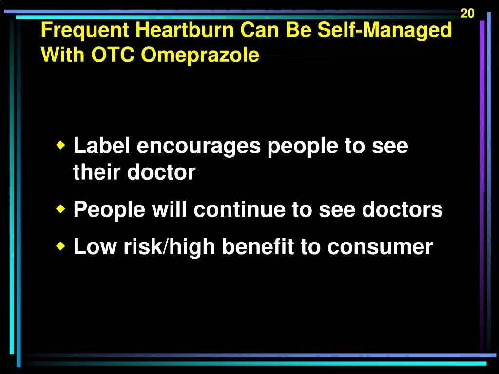 Frequent Heartburn Can Be Self-Managed With OTC Omeprazole