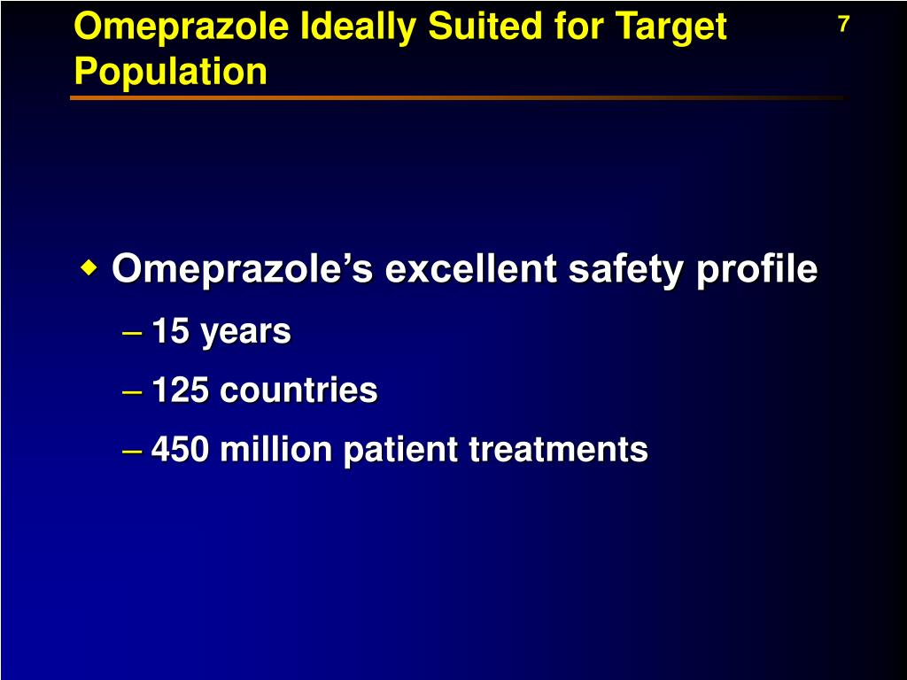 Omeprazole Ideally Suited for Target Population