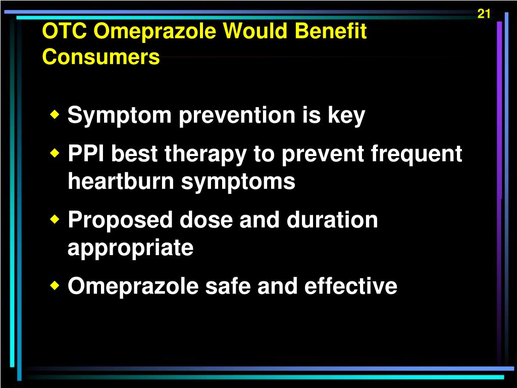 OTC Omeprazole Would Benefit Consumers