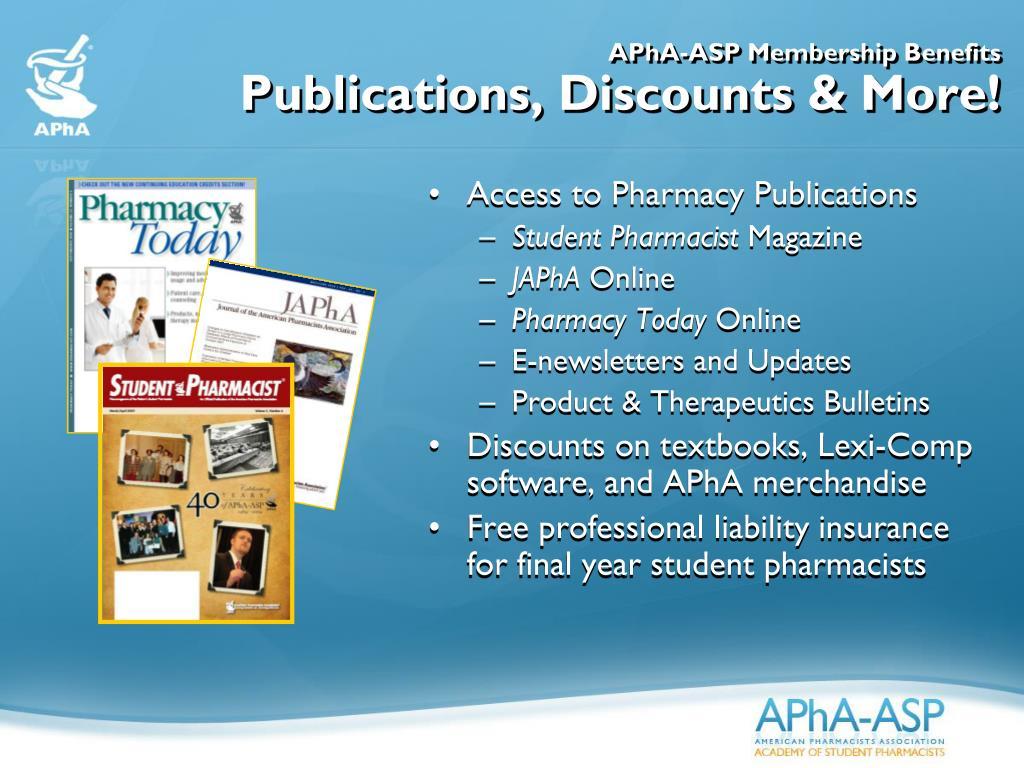 APhA-ASP Membership Benefits