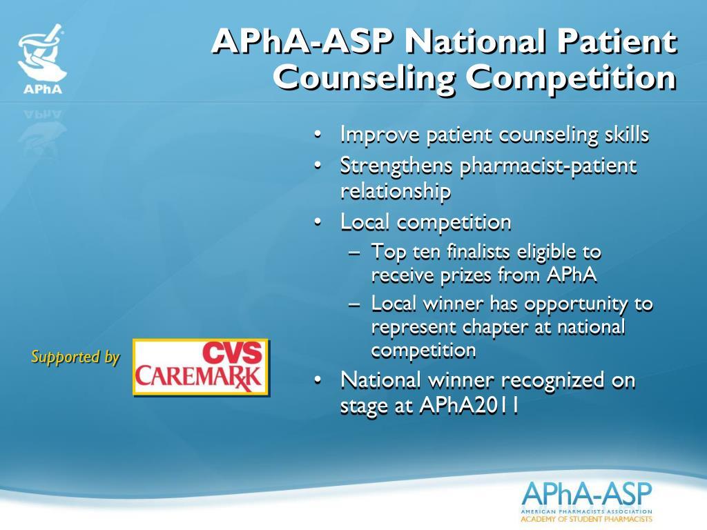 APhA-ASP National Patient