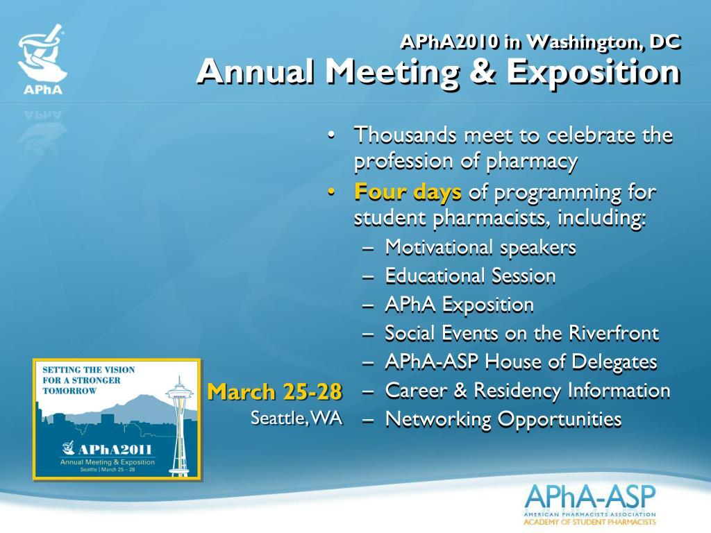 APhA2010 in Washington, DC